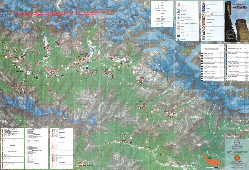 Svanetia map